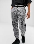 Joggers con estampado de leopardo y lentejuela de Jaded London