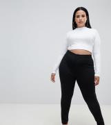 Treggings elásticos de talle alto en punto roma de ASOS DESIGN Curve