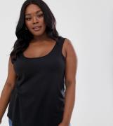 Camiseta sin mangas negra Ultimate de ASOS DESIGN Curve