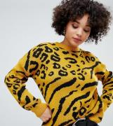 Jersey en amarillo leopardo de Missguided
